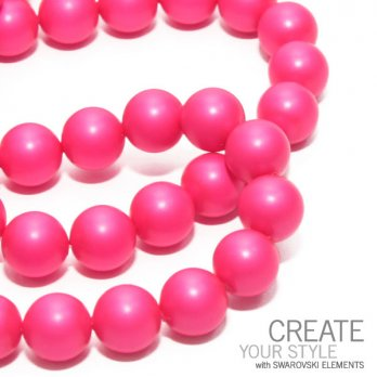 Crystal Neon Pink Pearl